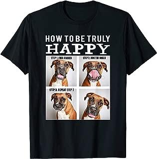 Funny Cute Boxer Face - Happy Dog Mom Mama Life Shirt T-Shirt