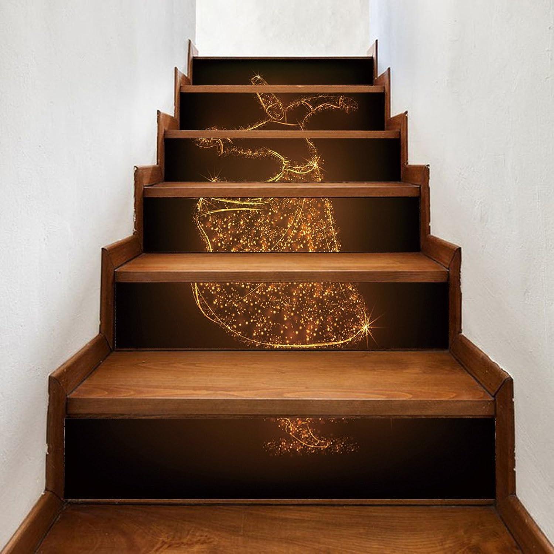 Stairs selfAdhesive Wallpaper Muslim Dance Home Decoration 3D Detachable DIY Steps Stickers Modern HD Waterproof Stairs Wallpaper Buy Three get one Free