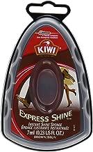 Kiwi Express Shoe Shine Sponge, 0.2 fl oz, Brown
