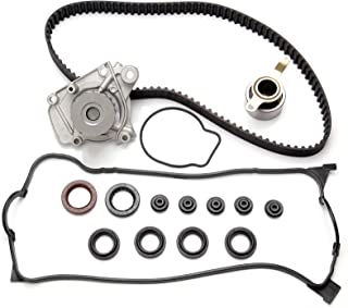 SCITOO Timing Belt Water Pump Kit Valve Cover Gasket Automotive Replacement Timing Parts Chain Sets fit 1996-2000 Honda Civic 1.6L SOHC D16Y7
