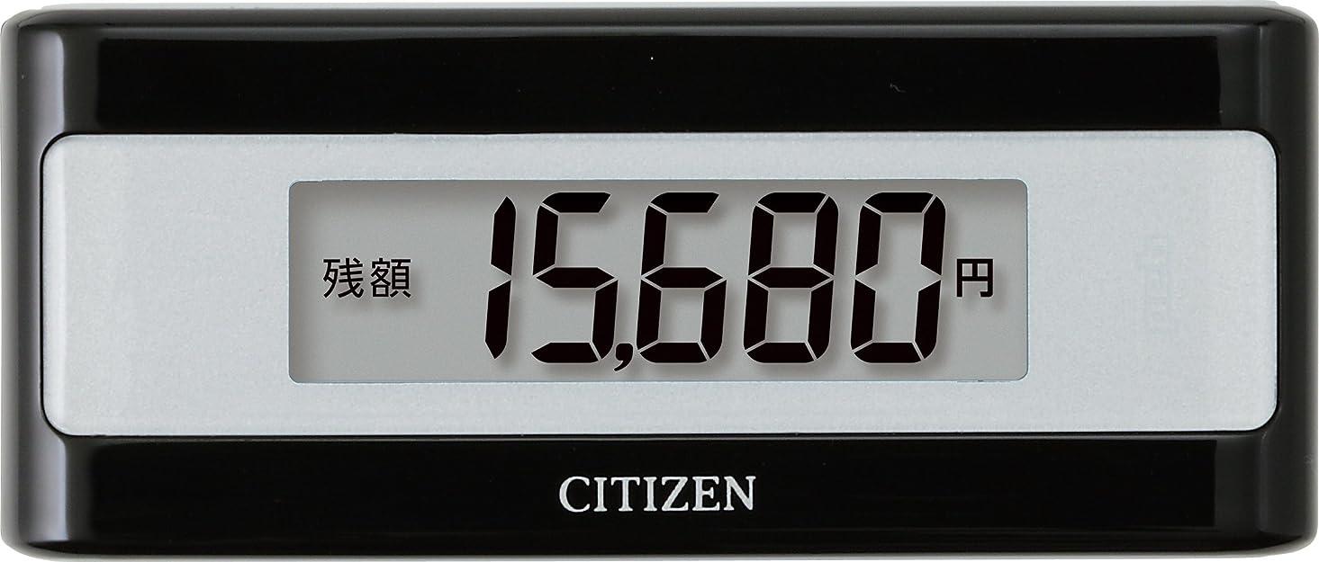 貫通するちらつき火シチズン(CITIZEN) 電子マネービューアー付き歩数計 ブラック TWTC501-BK