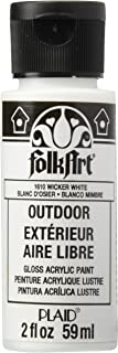 FolkArt Outdoor Acrylic Paint in Assorted Colors (2 Ounce), 1610 Wicker White