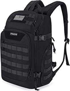 MOSISO 30L Tactical Backpack, Military Daypack 3 Day Assault Molle Rucksack Shoulder Bag for Outdoor Sports Hiking Hunting Fishing Camping Training with USB Charging Port & Dry-wet Separation, Black