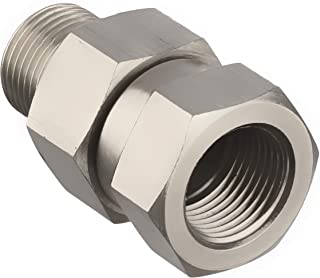 Mingle Pressure Washer Swivel, 4500 PSI, 3/8'' NPT-M Male Thread Fitting, Stainless Steel