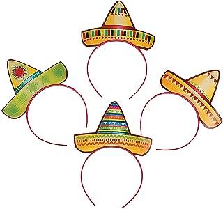 Fun Express Sombrero - Diademas para Fiestas, Multicolor,