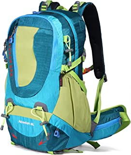 Hiking Backpack Waterproof Outdoor Internal Frame Backpacks for Men and Women Travel Camping Climbing (DV2003-Blue)