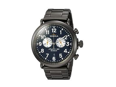 Shinola Detroit The Runwell 47mm 20062178 (Gunmetal/Navy Blue) Watches