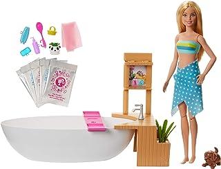Barbie Fizzy Bath Doll & Playset, Blonde, with Tub,...