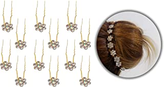 Confidence Bridal Hair Bun Decoration Juda Pins for Women, Hair Accessories, Set of 12, 25 Gram, Pack of 1