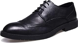 Men's Brogue Dress Shoes Wingtip Derby Formal Wedding Oxford Shoes
