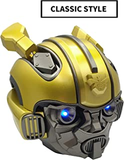 CHUANGE Bumblebee Helmet Bluetooth Speakers, Portable Wireless Speaker with HD Sound and Bass, 6H Playtime, TF Card and MP3 Player, Wireless Speaker for Phone, Tablet, TV, and More