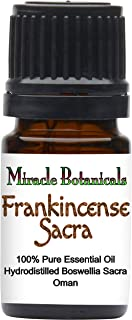 Miracle Botanicals Frankincense Sacra Essential Oil - 100% Pure Boswellia Sacra - Therapeutic Grade - 5ml