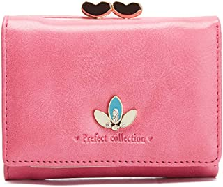 moca Premium Quality short mini wallet Purse for Womens Girls Ladies Short Mini Small Clutch Wallet cash card coin holder purse for womens Women's Ladies Girls