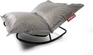 Fatboy Original Slim Nylon Bean Bag Chair - Silver + Rock 'n Roll