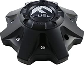 Fuel Matte Black Chrome Rivets Wheel Center Caps One (1) 1002-53B M-447 8-Lug (WITH SCREWS)