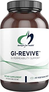 Designs for Health GI Revive - Gut Health + GI Intestinal Lining Support Supplement with Slippery Elm, Cat's Claw, Aloe, L...
