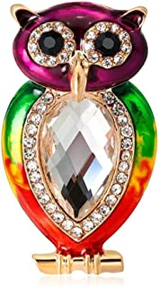 FOPUYTQABG Broche de aleación de los hombres femeninos moda rama pájaro goteo aceite cinturón diamantes de imitación moda ...