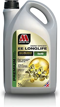 Millers Oils nbsp   nbsp nanodrive Longlife 5 nbsp W40 nbsp Fully Synthetic Engine Oil -5L