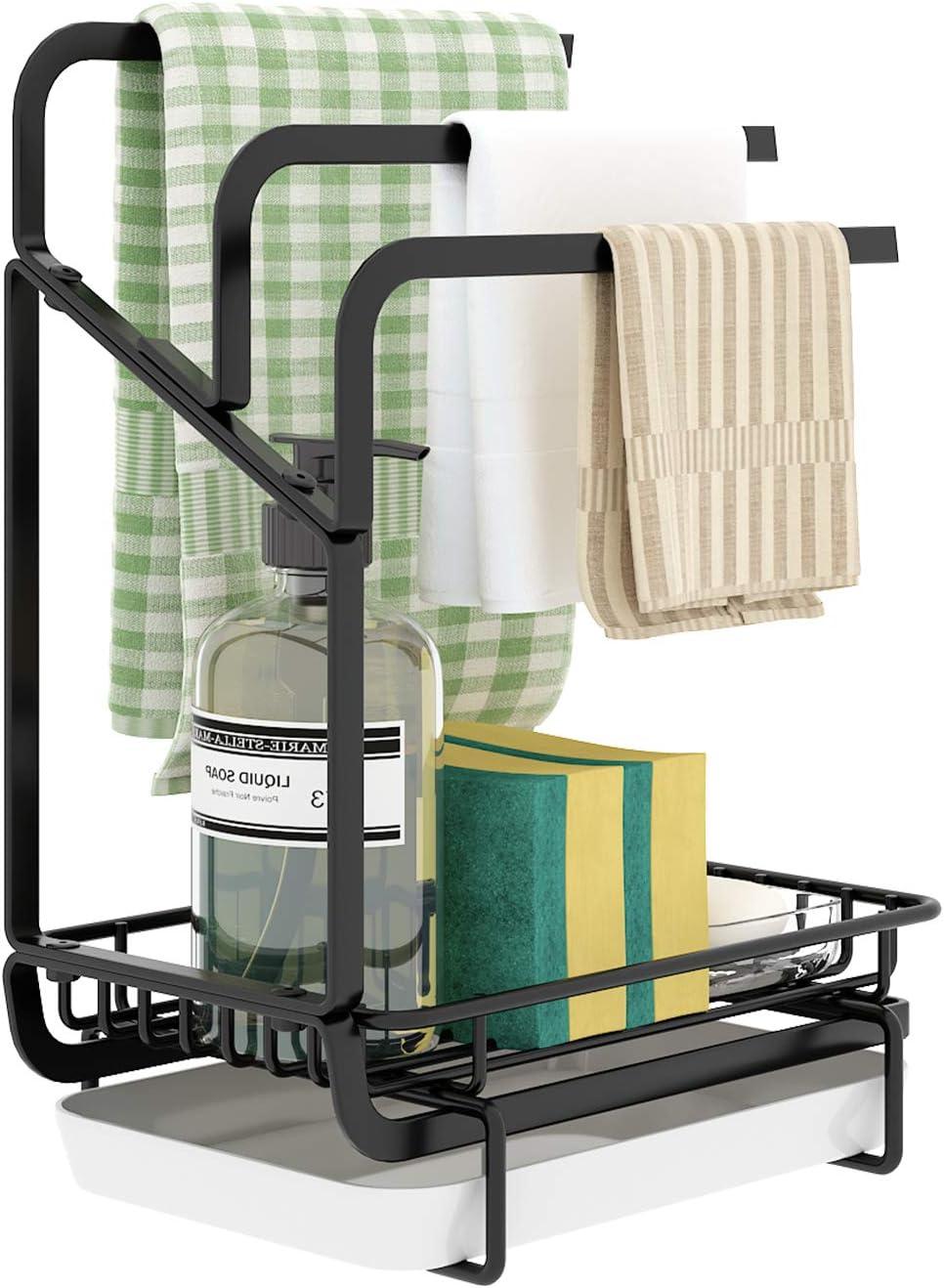 ICEETING Kitchen Shipping included Sink Organizer Sponge Nippon regular agency Towel with Holder Rack