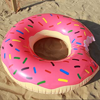 AMH 4ft (120cm) Giant Inflatable Donut Pool Float Raft Swimming Tube Ring for Adults