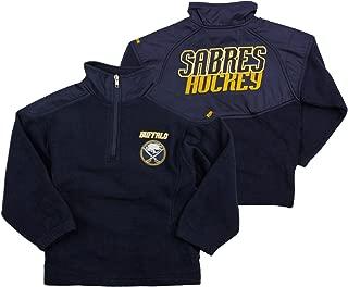 Reebok Buffalo Sabres NHL Big Boys The Flux 1/4 Zip Pullover, Navy Blue
