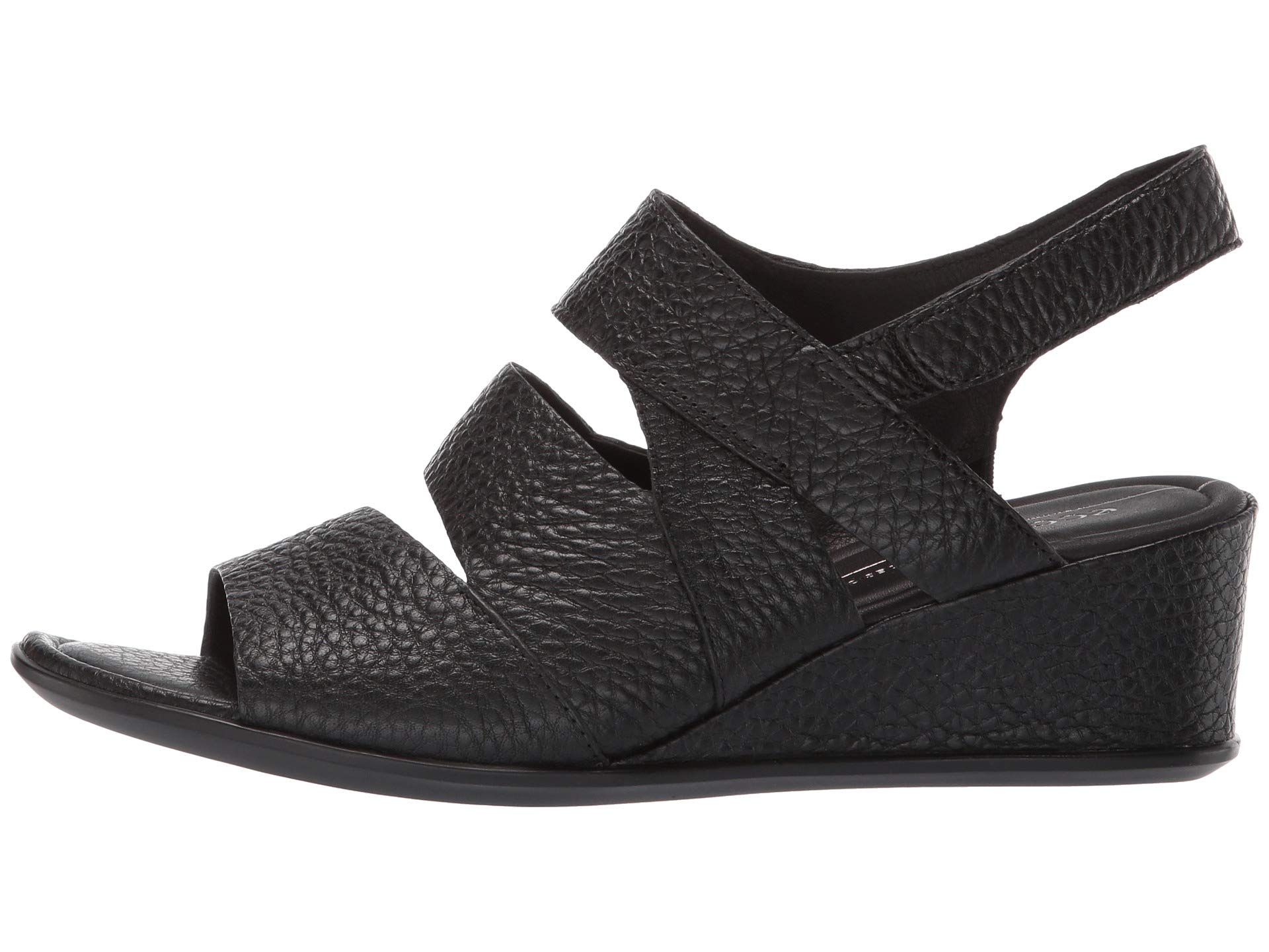 Cow Leather Wedge 35 Ecco Black Sandal Shape XFzHPPxR