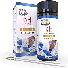 pH Test Strips 0 to 14 (200 ct) for Urine, Saliva, Drinking Water, Kombucha, Pool, Spa, Hotub, Soap, Liquids. pH Acid Alkaline Universal Test Strips. Acidity Alkalinity Litmus Paper Testing Strips