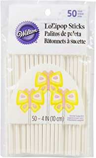Wilton 226777 Lollipop Sticks, Multicolored, 1912-1006, 50 ct