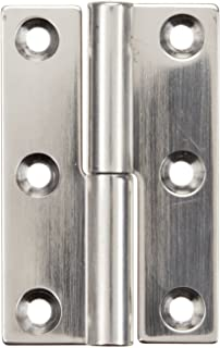 Sugatsune KN-50R/SS Lift Off Hinge, Stainless Steel 304, Polished Finish, Right Handedness, 1.5mm Leaf Thickness, 32mm Open Width, 7.5mm Pin Diameter