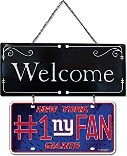 Sunset Vista Design Welcome #1 Fan Giants Red 14.25 x 7.25 Metal Decorative Hanging Sign