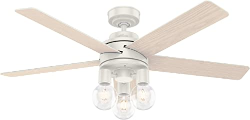 """new arrival Hunter Hardwick Indoor Ceiling Fan with outlet sale LED new arrival Lights and Remote Control, 52"""", Fresh White sale"""