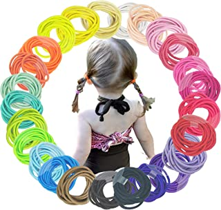 250PCS/25Colors Baby Girls Elastic Hair Ties Multicolored Kids Children Hair Bands Pigtail Ties Ponytail Holders Hair Acce...