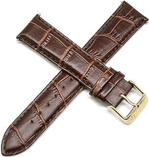 Lucien Piccard 20MM Alligator Grain Genuine Leather Watch Strap Band 8