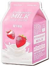 [6EA] A'PIEU Milk One-Pack Mask Sheet 21g (Strawberry 6EA)