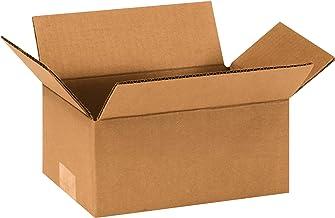 "Aviditi 964100PK Corrugated Boxes, 9"" L x 6"" W x 4"" H, Kraft (Pack of 100)"