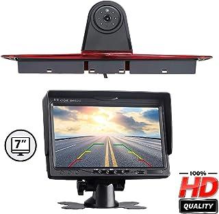 HD Farb Rückfahrkamera zum Austausch der originalen 3. Bremsleuchte an der Dachkante mit 7.0' Monitor Rückfahrvideosystem für Mercedes Benz Transporter Sprinter W906 1500 2500/ VW Crafter