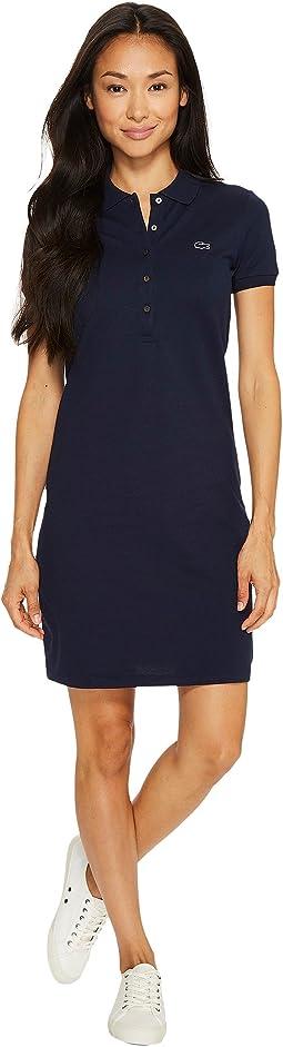 Lacoste - Short Sleeve Pique Polo Dress