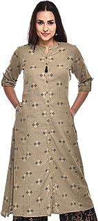 Pistaa's Women's Cotton Regular Kurta