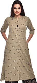 Pistaa's Women's Cotton Flex Ikat Printed A-Line Kurta with Plus Size's