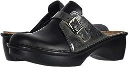 Jet Black Leather/Crinkle Steel Leather