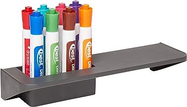 ECRKids8 Slot MagneticDry Erase Marker Holder - Pen and Eraser Organizer Tray Rack for Whiteboards and Glassboards, Grey