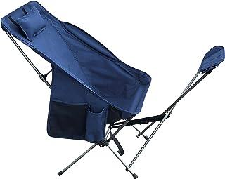 オットマン取り外し アウトドアチェア リラックスチェア 折り畳み 椅子 コンパクト フットレスト リクライニング「 有頂天チェア 」簡単 収納 持運び アウトドア リビング ベランダ ドリンクホルダー マガジンラック 高さ調整