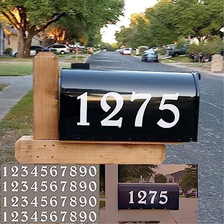 Vinyl Die Cut Decals 2-Pack 5 Custom Mailbox Numbers Home Address Business