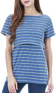 Women's Maternity Nursing Top Short Sleeve Breastfeeding T-Shirt