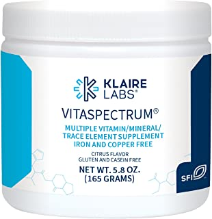 Klaire Labs VitaSpectrum Powder - Children's Hypoallergenic Multivitamin & Mineral with 28 Essential Nutrients in Citrus for Kids, No Copper, Iron, Gluten or Casein (30 Servings, 165 Grams)