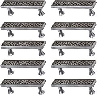 Ace HDL-10120 Harley Davidson Name Plate Cast Metal Drawer Pull - Quantity 10