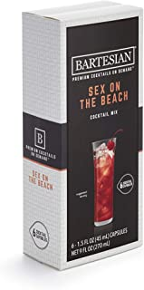 Bartesian Sex on The Beach Cocktail Mixer Capsules, Pack of 6 Cocktail Capsules, for Bartesian Premium Cocktail Maker (55355)