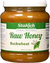 Stakich BUCKWHEAT Antioxidant RAW HONEY - 100% Pure, Unprocessed, Unheated, KOSHER - 5 LB (80 oz)