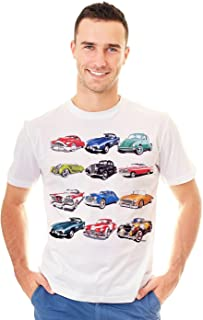 Retreez Retro Classic Vintage Cars Collection Graphic Printed T-Shirt Tee