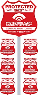 PROPERTYGUARD Home Alarm Yard Sign w Post & 6 Alarm System Stickers! Bonus Warning Security Camera Decal Included!